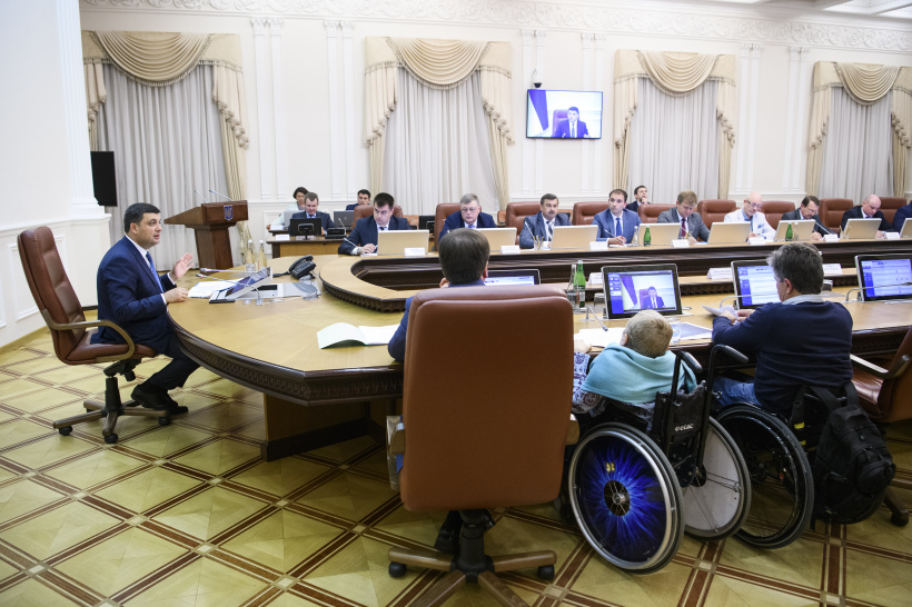 Volodymyr Groysman: An issue of providing for the needs of people with disabilities should be included in regional development programs, as well as dedicated commissioners established in regions
