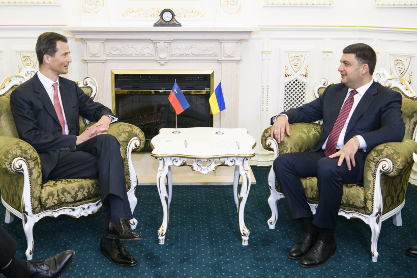 Ukraine and Liechtenstein are ready to strengthen trade and economic cooperation  – a meeting of Prime Minister of Ukraine and Hereditary Prince of Liechtenstein