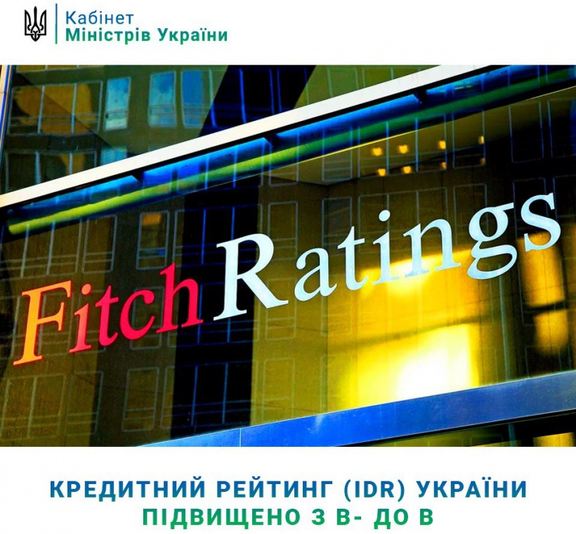 Ukraine's Credit Rating (IDR) upgraded from B- to B