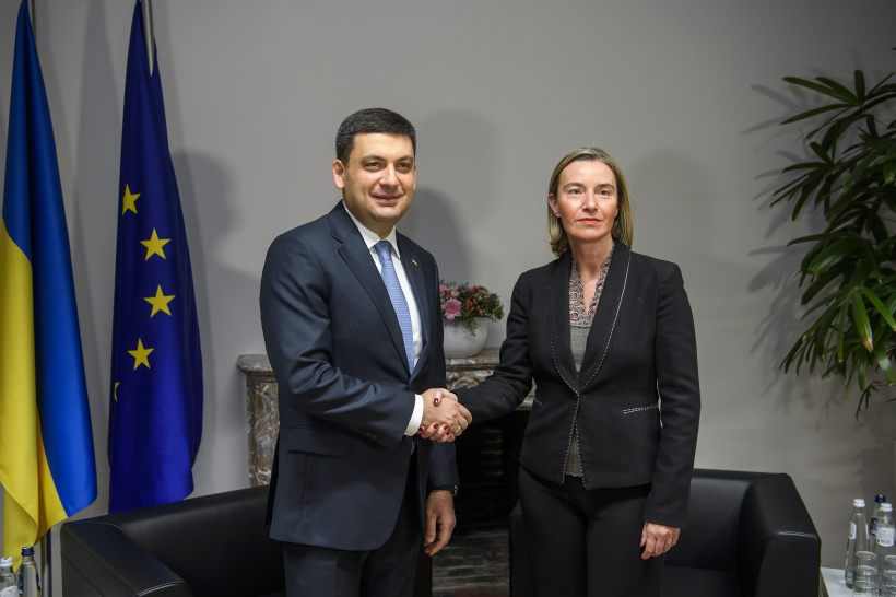 Ukraine and EU should consolidate international pressure  on the aggressor country, says  Prime Minister during a meeting with Federica Mogherini