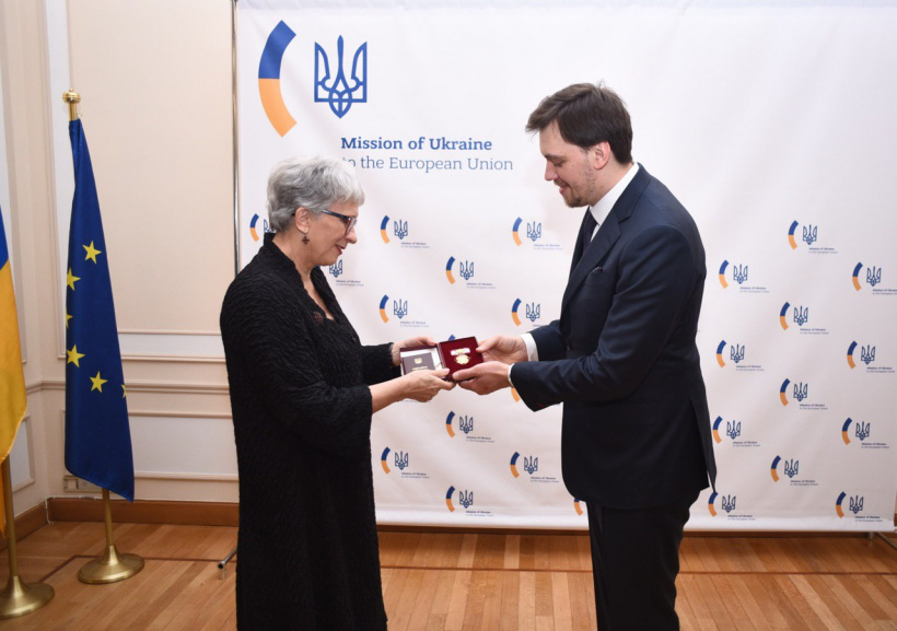Oleksiy Honcharuk bestowed state award to Vice President of the European People's Party in Brussels