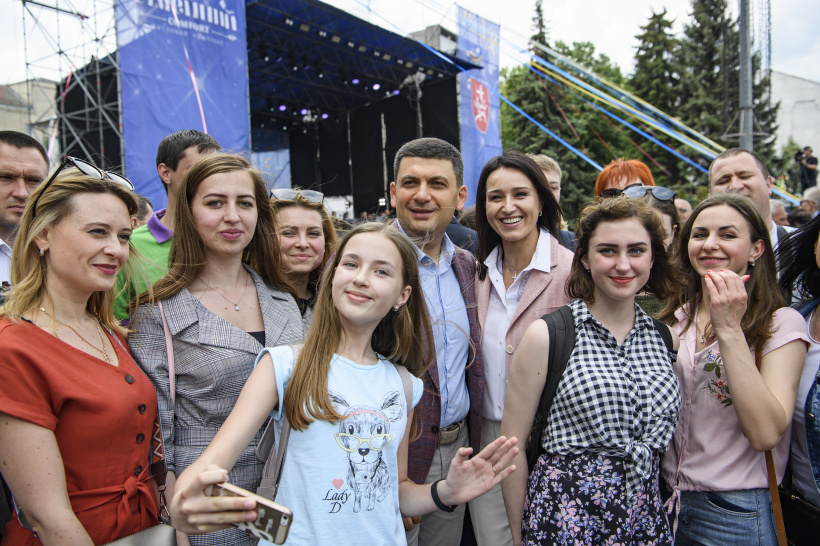 Day of Europe is not just another holiday, it is our aspiration, says Volodymyr Groysman during the celebration of the Day of Europe in Vinnytsia