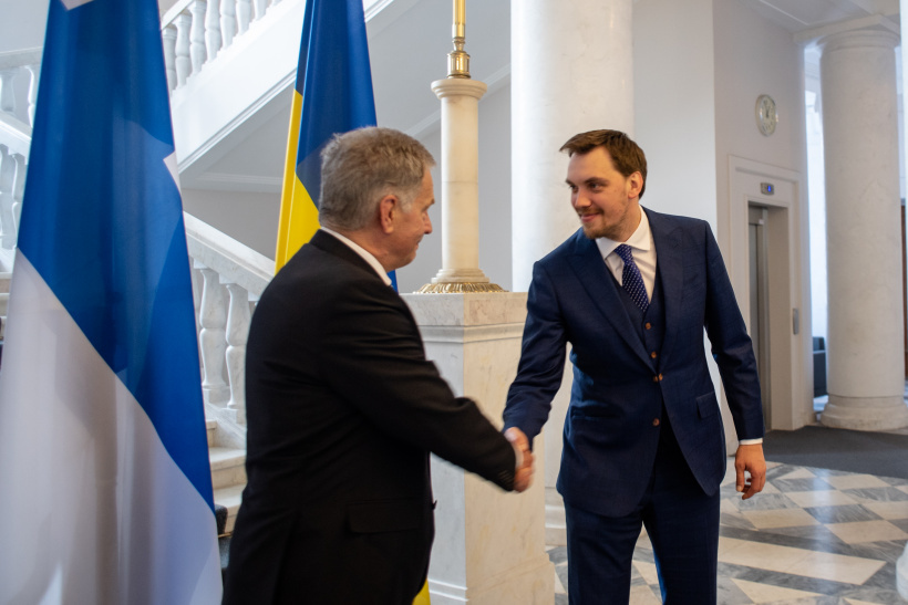 We invite business of Finland to invest in Ukrainian projects, says Oleksiy Honcharuk at a meeting with President of Finland