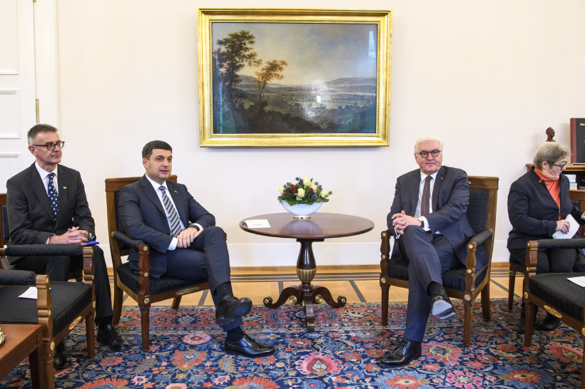 A sanctions policy against aggressor must be tightened – a meeting of Prime Minister of Ukraine and Federal President of Germany