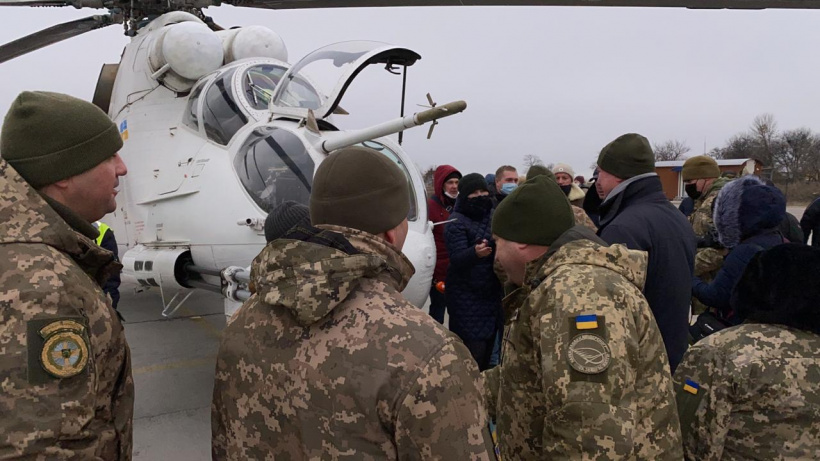 Deputy Prime Minister Oleh Uruskyy took part in the first testing of heavy helicopter blades