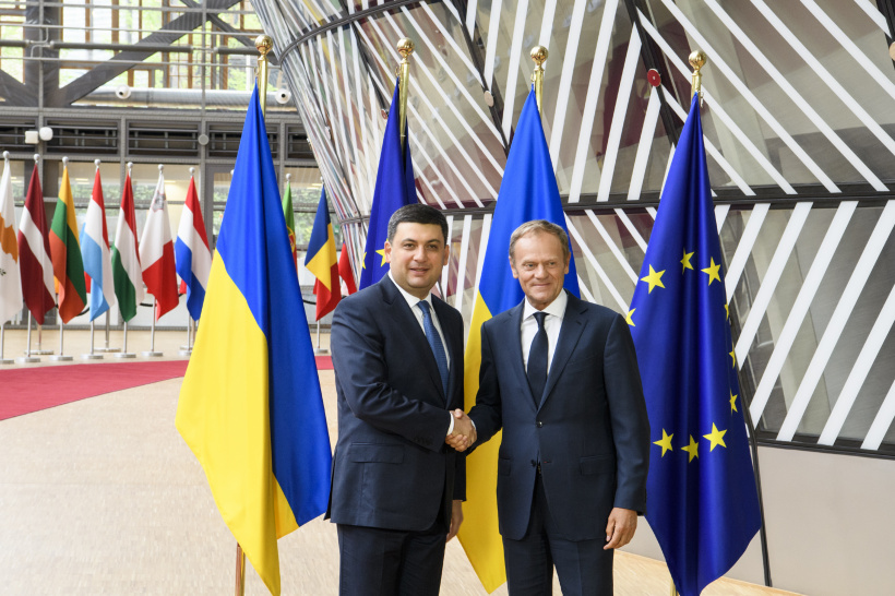 Volodymyr Groysman at a meeting with the President of the European Council: The European integration course became a main pillar of reforms in Ukraine