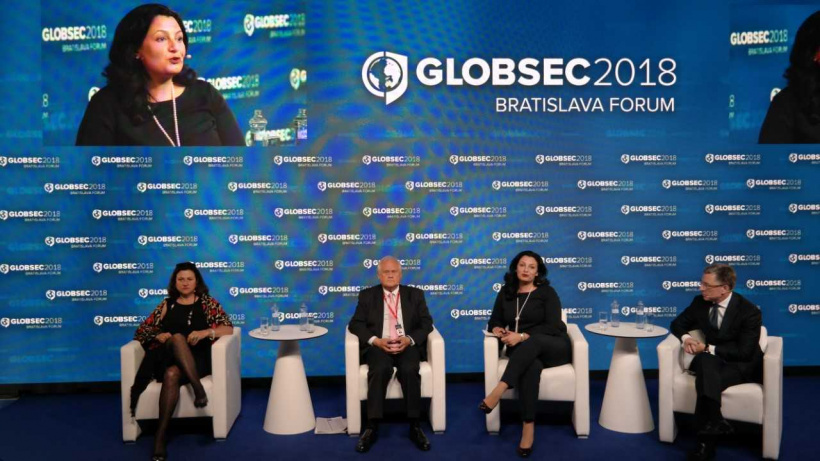 Ivanna Klympush-Tsintsadze at GLOBSEC-2018: Geographical features of Ukraine make it impossible to compare it with other countries, and a scale of the reforms  to be implemented is unique
