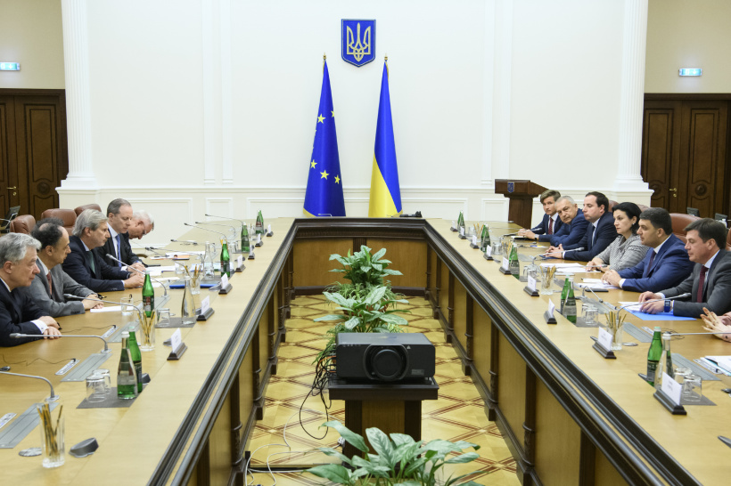 EU commends Ukraine's progress towards implementation of the Association Agreement and pursuing reforms - European Commissioner Johannes Hahn during a meeting with Prime Minister of Ukraine