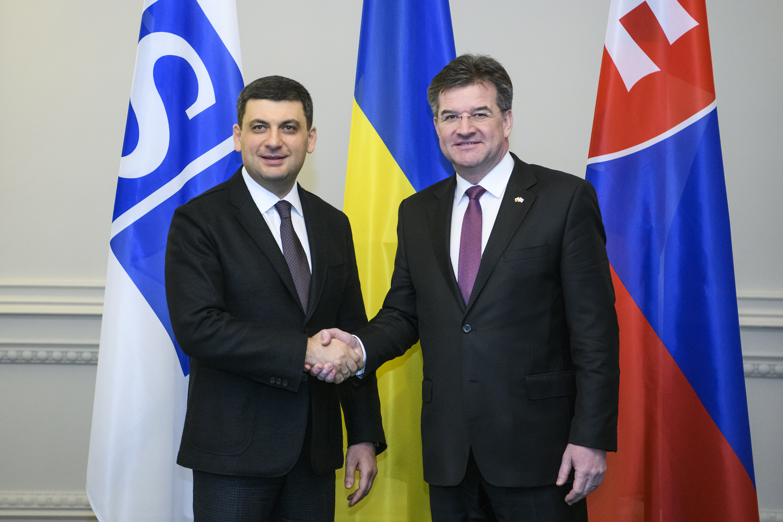 Українське питання – пріоритет роботи ОБСЄ, – зустріч Глави Уряду з Главою МЗС Словаччини